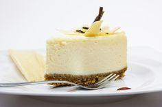 Onweerstaanbare witte chocolade cheesecake