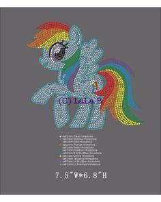 My Little Pony Rhinestone hot fix heat transfers - DIY appliqué for shirts kids - rainbow dash My Little Pony Shirt, Rhinestone Transfers, Rhinestone Shirts, Rainbow Art, Kids Rainbow, Make Your Own Shirt, My Little Pony Birthday, Mandala, Dot Painting