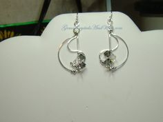 Puttin On the Ritz 2 Earrings  With Black Diamond and Crystal AB Swarovski Crystals.. I Love the way these look !