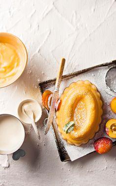 Peach yoghurt & sourcream panna cotta