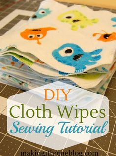 2 yards of flannel fabric + 30 minutes = 20 cloth baby wipes! I LOVE this sewing tutorial for cloth wipes! They're so quick that they make the perfect baby gift for any cloth diapering mama, and can Baby Sewing Projects, Sewing For Kids, Sewing Tutorials, Sewing Tips, Sewing Ideas, Craft Projects, Sewing Patterns, Cloth Baby Wipes, Cloth Diapers