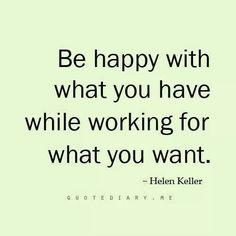 Be happy while....
