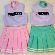 ✄ Princess and Unicorn Cheerleader Outfits ✄