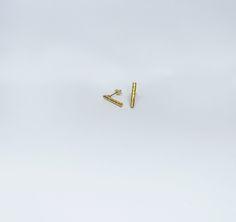 Brinocs Twig curtos em Prata com Banho de Ouro +info: joias.she@gmail.com