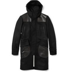 Alexander McQueen Hooded Wool and Cashmere-Blend Donkey Coat | MR PORTER