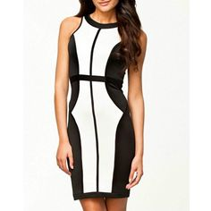 Vogue Classic Block Slim Bodycon #Dress always brings you a sexy slender #appearance once you wear it. Cut in a flattering shape, it felt sexy cool with the sleev...