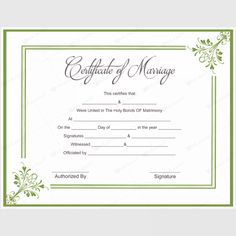 Marriage certificate wedding certificate custom for Calligraphy certificate templates