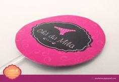 Mini Plaquinhas para cupcake - Chá de Lingerie   #festa #decoração #party #personalizados #chádeligerie #calcinhas #cupcake