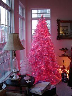 Pink Christmas tree<3