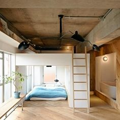 Two+boxes+replace+walls+in+Kanagawa+apartment+by+8+Tenhachi
