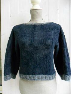 Ayé ! J'ai fini de tricoter mes km rangs de point mousse, oufff .... Et la finalité de tous ces...