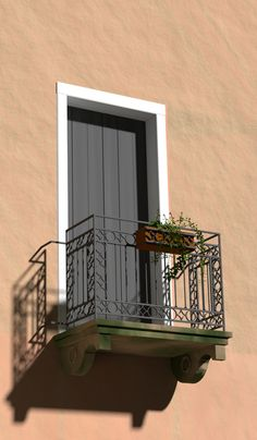 This is based on an Italian balcony that a friend photographed. The render engine is Cycles, and there's 4000 passes in it.