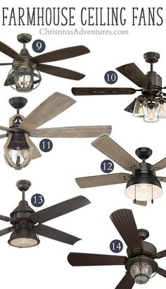 Unique Farmhouse Ceiling Fans