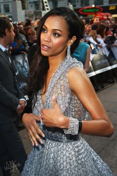 Zoe Saldana attends the UK premiere of Star Trek held at the Empire Leicester Square