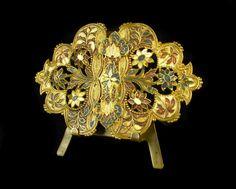 Ancienne Boucle DE Ceinture C 1900 EN Laiton Émaillé Belt Buckle Enamelled Brass   eBay