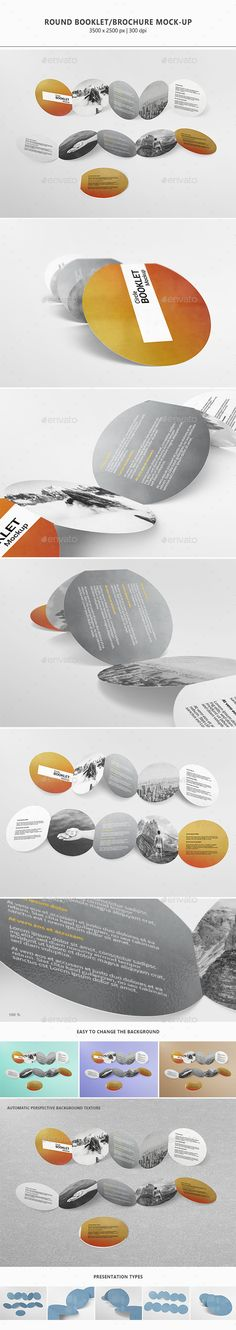 Round Booklet / Brochure Mock-up