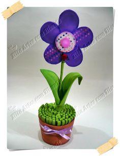 Vasinho de flor de EVA