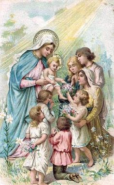 Shop Vintage Blessed Virgin Mary Jesus Religious created by ShowerOfRoses. Religious Pictures, Jesus Pictures, Blessed Mother Mary, Blessed Virgin Mary, Catholic Art, Religious Art, Vintage Holy Cards, Queen Of Heaven, Mama Mary