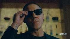 Theo Rossi aka SHADES from Luke Cage! Go to  Twitter.com/Theorossi to see this as a gif.  NETFLIX