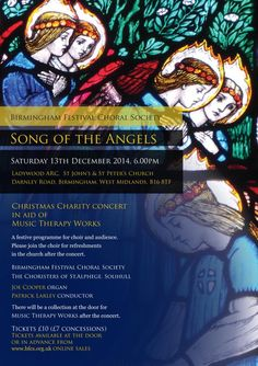 Don't miss our Christmas Charity Concert in Birmingham on 13th December! Proceeds to @MusicTherapyWks