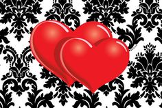 Imagens para imprimir-plano de fundo preto e branco - coração- Blog Dikas e diy