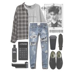 """""""☠Please Sing☠"""" by banngtanboys ❤ liked on Polyvore featuring H&M, Abercrombie & Fitch, LEXON and Vans"""