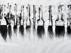 """Jim Dine """"Five Paintbrushes (3rd State) 1973"""" Limited Edition Print Etching 20 x 28 in 