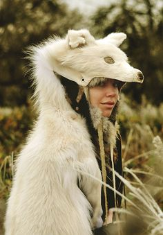 White Wolf Headdress by Casey Louise Photography, via Flickr