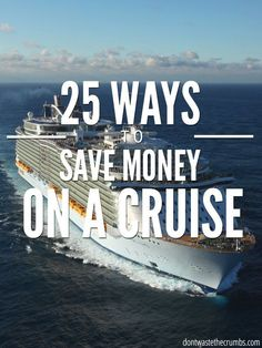 Cruise tips for first timers and seasoned cruisers alike. Tricks to saving money for families on Royal Caribbean, Carnival and every other cruise line too! :: DontWastetheCrumbs.com