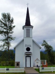 Tiny old country church, Elbe Washington Seats approx. 40 people.
