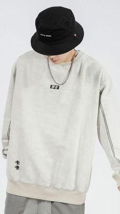 Hippie Style Clothing, Urban Street Style, Hoodie Outfit, Urban Outfits, Urban Fashion, Crew Neck Sweatshirt, Men Sweater, Sweatshirts, Casual