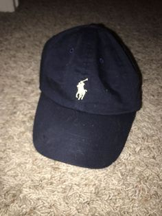 53db423afb7 Polo Ralph Lauren Hat Navy Yellow One Size Fits All Adjustable  fashion   clothing