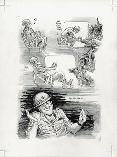 Will Eisner Original Art: Page 12 from Last Day in Vietnam (2000)