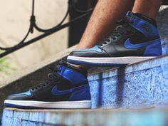 Nike Air Jordan 1 Retro High - Black/Royal Blue - 2017 (by kaze845)