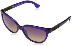 Diesel Eyewear Womens Square Sunglasses (Purple). Buy with confidence! Authorized Retailer. Authenticity Guaranteed. Full retail package with all accessories.