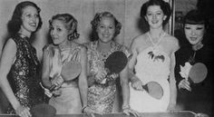 Loretta Young, Mary Pickford, Grace Moore, Myrna Loy and Quon Tai.