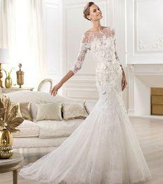 Robe de mariée à manches longues de style sirène  - Elie Saab
