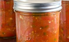 Canning Homemade Salsa... I like this recipe because it uses lime juice instead of vinegar