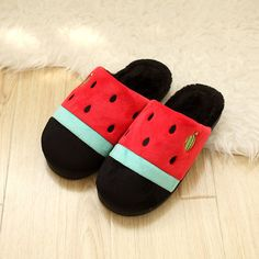 - Cute watermelon house slippers - Keep your feet warm and comfy in these cool slippers - Available in 2 colors