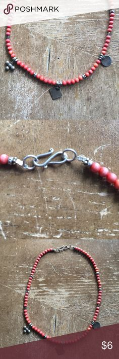 Necklace Sterling silver and coral 🌸 Necklace Sterling silver and coral 🌸 Jewelry Necklaces