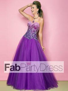 2013 Style Ball Gown Sweetheart Beading Sleeveless Floor-length Tulle Prom Dresses / Evening Dresses (SZ0300100) - FabPartyDress.com