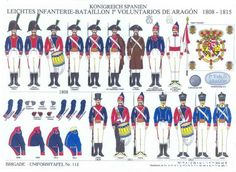 Spanish Light Infantry 1st Volunteers of Aragon 1808-15