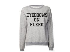 Eyebrows on FLEEK Sweatshirt | College Sweatshirt | Meme Sweatshirt