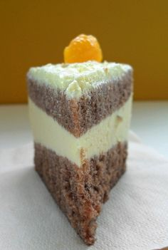 frozen wings: A Steamed Chocolate Layered Cake with Orange Cream Cheese Filling