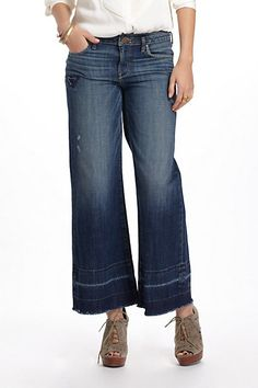 Holding Horses Claire Stovepipe Jeans #anthropologie Oh Anthropologie...you owe US an apology! If these pants (and fugly shoes) can make a model look this dumpy, I can just imagine what they'll look like on my short, thick legs!