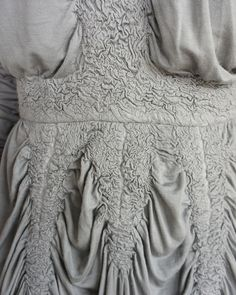 Felted Fashion - felted jersey dress with delicate surface pattern & texture detail; fabric manipulation for fashion design // Maria Moiseeva #textiles