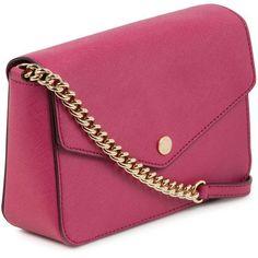 92dd62adf357b9 Michael Michael Kors Jet Set Small Leather Shoulder Bag ($245) ❤ liked on  Polyvore
