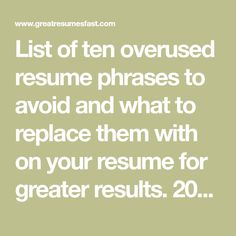 These Resume formatting secrets will make sure you get noticed when ...