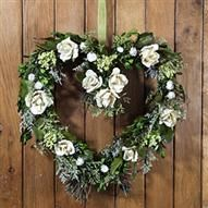 ACHICA   Winter Flora Preserved Rose Heart, Cream