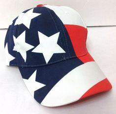 vtg STARS AND STRIPES HAT Red White Navy-Blue Men Women Team. Usa  OlympicsTeam UsaBaseball HatsAmerican FlagRed ... 681d0d13fe2f